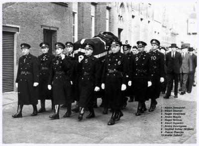 Begrafenis Leon Arteel, 1959