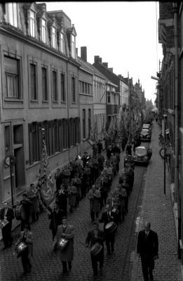 Manifestatie kinderbijslag, Izegem, 1958