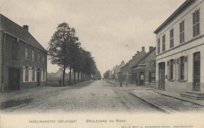 Zicht op de Bruggestraat, Ingelmunster, ca 1910