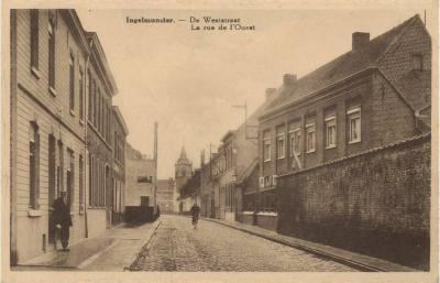 Zicht op Weststraat, Ingelmunster, ca 1910
