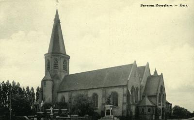 Kerk Beveren na de oorlog