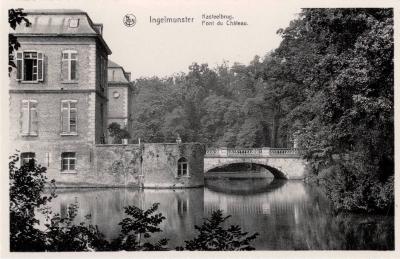 Zicht op de Kasteelbrug bij het Kasteel, Ingelmunster, ca 1950