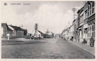Stationsplein, Ingelmunster, ca 1950