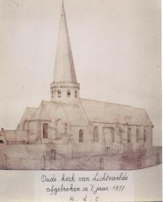 Kerk van Lichtervelde voor 1880