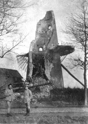Kapotgeschoten Abelemolen, Izegem, 1918