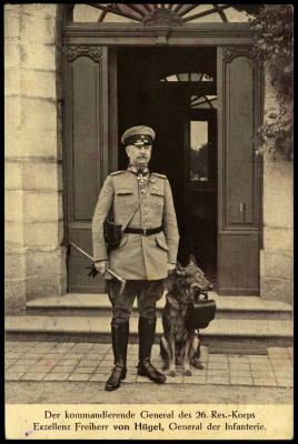 Generaal von Hügel, generaal van 26ste Reservekorps