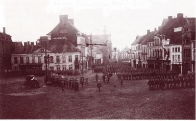 Duitse militairen op Grote Markt, Roeselare