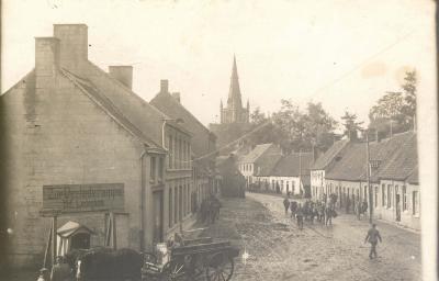 Hoek Kleppestraat met Ledegemstraat, Dadizele 1915