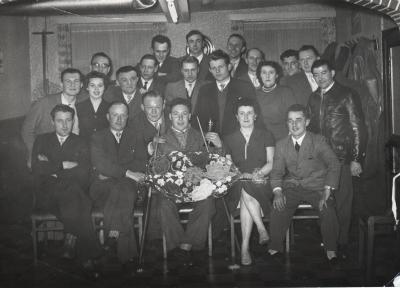 Biljartclub, Gits, 1956