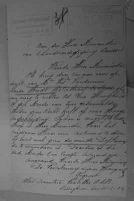 Dossier Vandamme: brief Nationale Strijdersbond aan Minister van Landsverdediging, 11 februari 1922