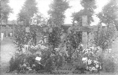 Graven van gesneuvelde Engelse piloten, Abeele-Izegem 18 augustus 1917
