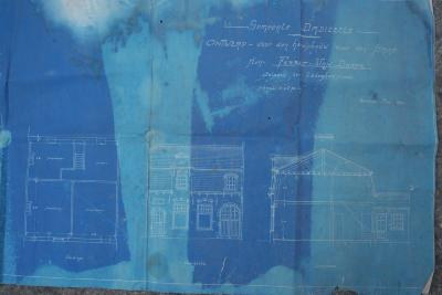 Plannen heropbouw huis Ferret-Van Dorpe, Dadizele mei 1920