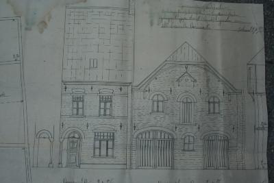 Plannen heropbouw huis Camille Vervaecke, Dadizele