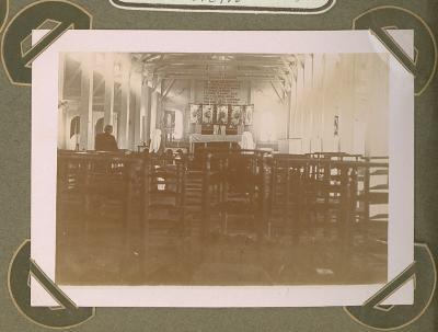 Kapel in hospitaal Cabourg, Adinkerke 25 augustus 1915