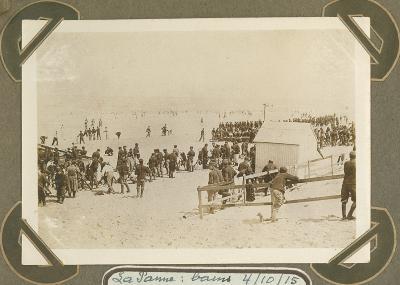 Baden in De Panne 4 oktober 1915