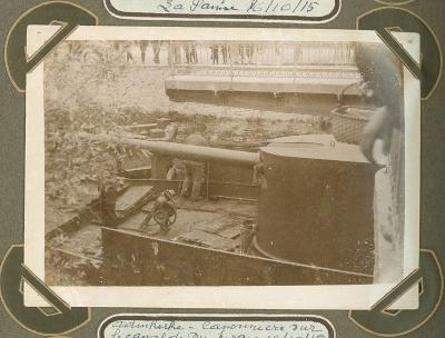 Kanonneerboot op kanaal naar Duinkerke, 10 oktober 1915