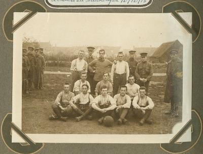 Voetbalploeg van 12de linie, 14 oktober 1915