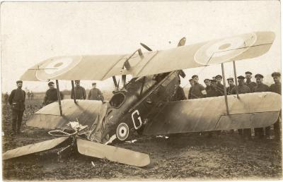 Neergeschoten vliegtuig, Rumbeke, 22 oktober 1917