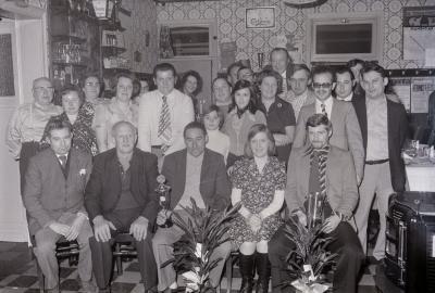 Biljartkampioen café 't Kruiske, Moorslede november 1975