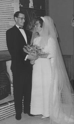Huwelijksfoto André Depreitere en Marie-Josée Vierstraete