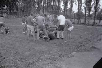 Feest op speelplein Levet Scone, Moorslede 1975
