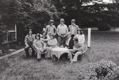 Groepsfoto 'Het Brugske', Slypskapelle juni 1975