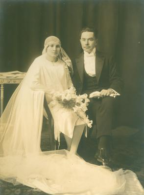 Huwelijksfoto Alouïs Decraene en Esther Verhelst