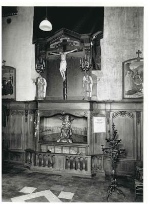 St. Amandskerk, Ingelmunster, doopvont, orgel