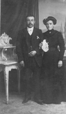 Huwelijksfoto Constant Seys en Magdalena Leys