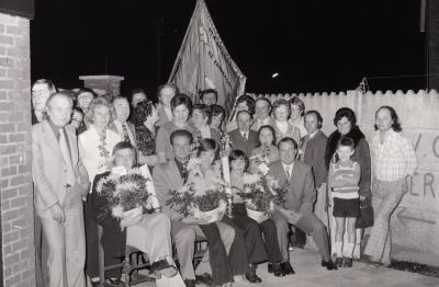 Viering vinkenkampioen De Eendracht, Moorslede oktober 1974
