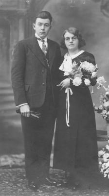 Huwelijksfoto Henri Maeyaert en Maria Depuydt