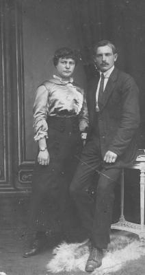 Huwelijksfoto Devlaminck Aloïs en Euphrasie Roelens