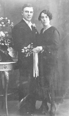 Huwelijksfoto Cyriel Verscheure en Bertha Vandeweghe