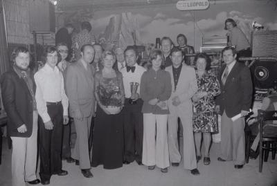 Zangwedstrijd in zaal The Ranch, Moorslede oktober 1974