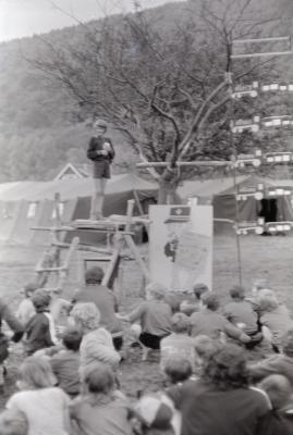 Chirojeugd Staden op kamp in La Roche, augustus 1974