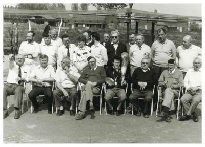 Boogschutters, Sint-Sebastiaansgilde, Ingelmunster, mei 1988