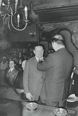 Bezoek minister Lavens aan Eurolac, Moorslede december 1973