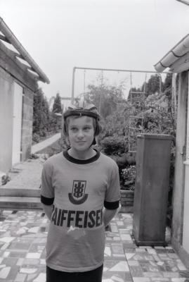 Kurt Verleden poseert, Moorslede oktober 1973