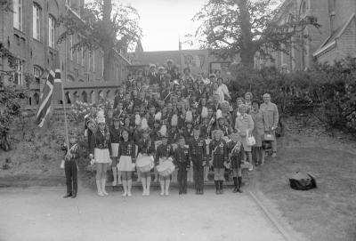 Noorse muziekgroep in Ten Bunderen, Moorslede juni 1973