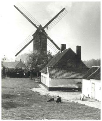 Kasteelmolen en boerderij, Ingelmunster, ca 1938