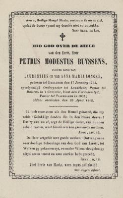 Bidprentjes, Ingelmunster, 1812
