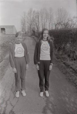 Annie en Katrien Alossery, Moorslede februari 1973