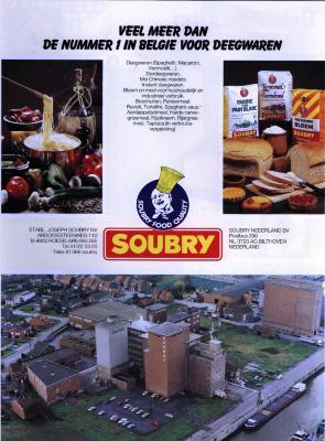 Publiciteit van Soubry, Roeselare, +/- 1985