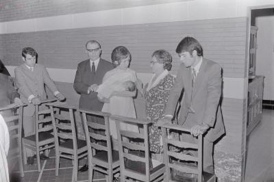 Doopsel baby L. Vanoverberghe, augustus 1972