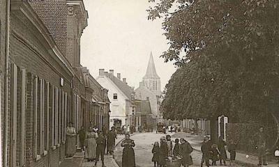 De Breulstraat in Moorslede voor de oorlog
