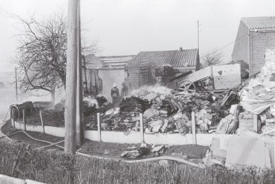 Brand bij W. Nys, Moorslede 1 februari 1972