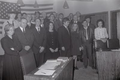 Groepsfoto Toneelvereniging, Oostnieuwkerke maart 1972