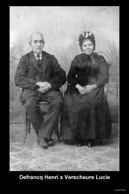 Defrancq Henri en Verscheure Lucie, grootouders van Suzanne Defrancq
