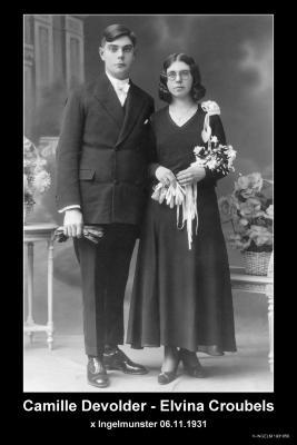 DEVOLDER Camille Josef en CROUBELS Elvina Maria, Ingelmunster,1931
