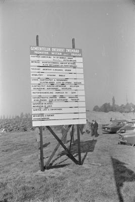 Eerste steenlegging zwembad, Moorslede oktober 1971